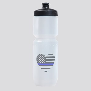 Thin Blue Line Love Sports Bottle