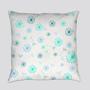 Dandelion Clocks Everyday Pillow