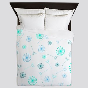 Dandelion Clocks Queen Duvet