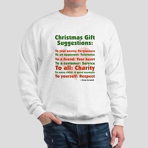 Christmas Gift Suggestions Sweatshirt