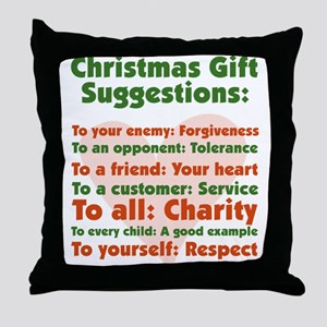 Christmas Gift Suggestions Throw Pillow