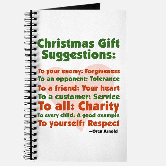 Christmas Gift Suggestions Journal