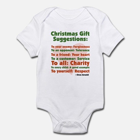 Christmas Gift Suggestions Infant Bodysuit