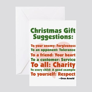Christmas Gift Suggestions Greeting Card