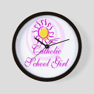 Catholic School Girl Wall Clock