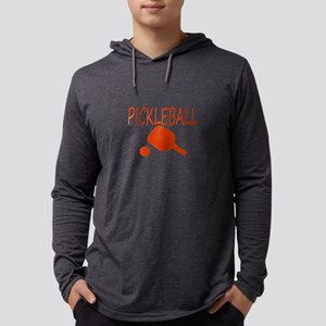 Pickleball with ball and paddle sport Mens Hooded