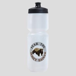 Honey Badger Fear Sports Bottle