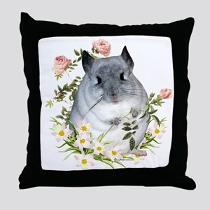 Chin with Rose Throw Pillow