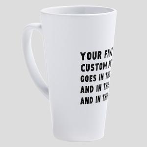 Add five text lines 17 oz Latte Mug