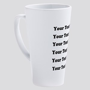 Six lines text customized 17 oz Latte Mug