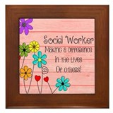 Social worker month Framed Tiles