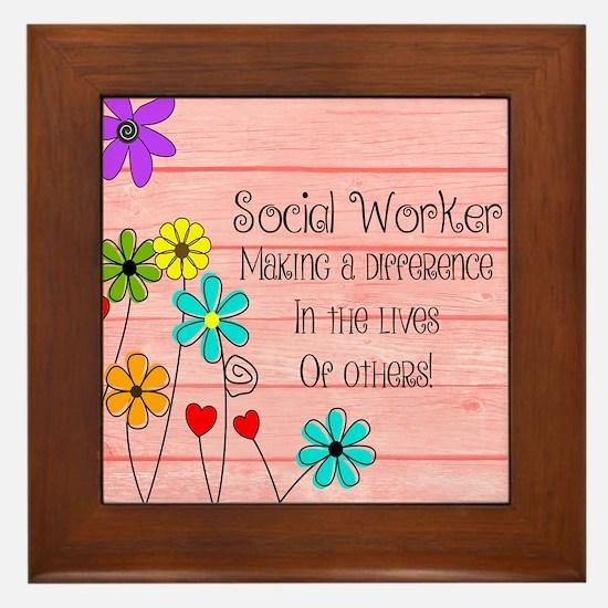 Social Worker Quote Framed Tile