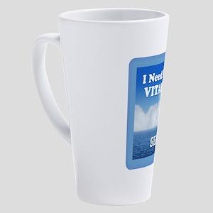 I Need More Vitamin Sea 17 oz Latte Mug