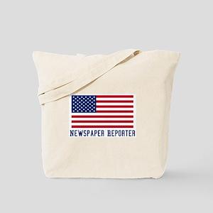Ameircan Newspaper Reporter Tote Bag