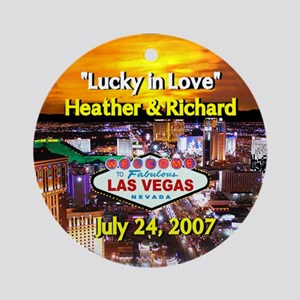 Las Vegas Lucky in Love Ornament (Round)