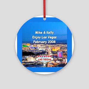 Las Vegas Keepsake Ornament (Round)