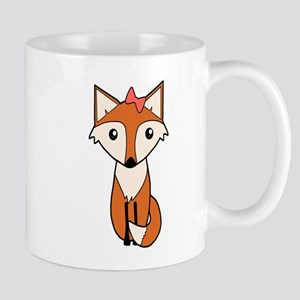 Cute Fox Wearing a Hair Bow Mugs