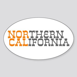 NORTHERN CALIFORNIA Oval Sticker