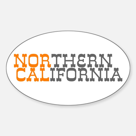 NORTHERN CALIFORNIA Oval Decal