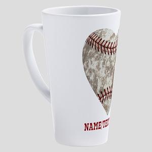 Baseball Love Personalized 17 oz Latte Mug
