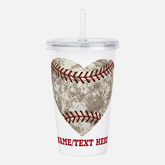 Baseball Love Personalized Acrylic Double-wall Tum