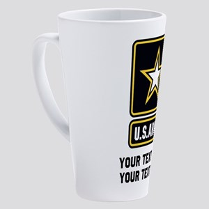 US Army Star 17 oz Latte Mug