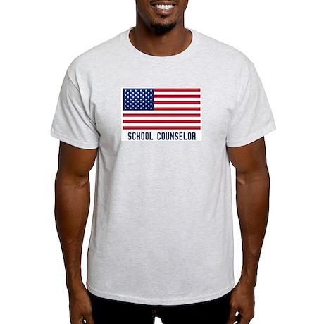 Ameircan School Counselor Light T-Shirt