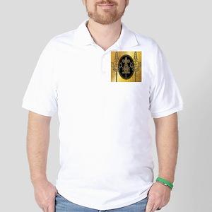 Egyptian sign on golden background Golf Shirt