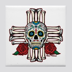 SUGAR SKULL ZIA Tile Coaster