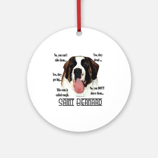 Saint(rough)FAQ Ornament (Round)