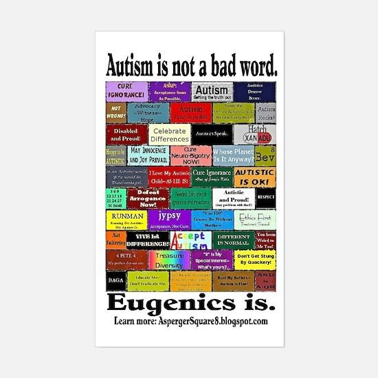 Defeat Eugenics Rectangle Decal