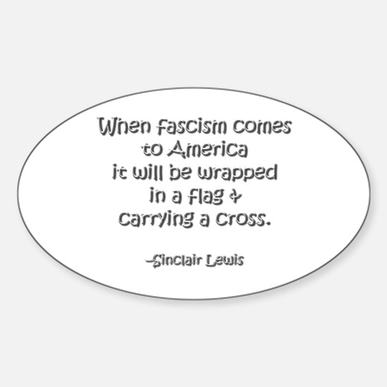 Fascism Oval Decal