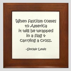 Fascism Framed Tile