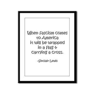 Fascism Framed Panel Print