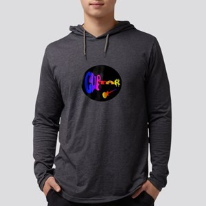 guitar word rainbow w instrument Mens Hooded Shirt