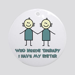 Sisters Fun Ornament (Round)