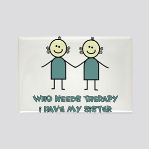 Sisters Fun Rectangle Magnet