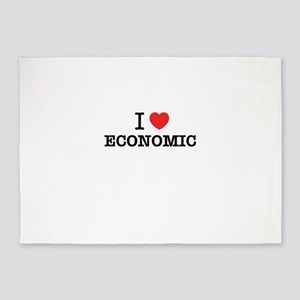 I Love ECONOMIC 5'x7'Area Rug