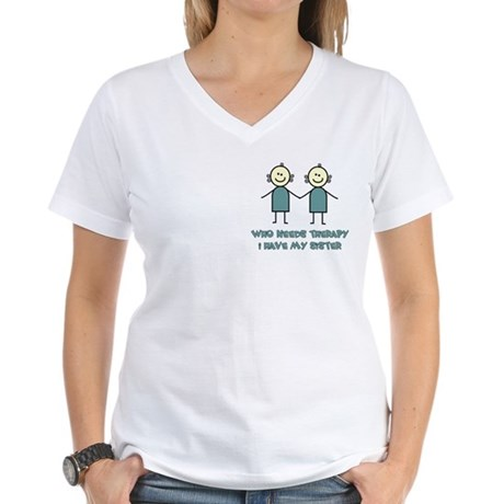 Sisters Fun Women's V-Neck T-Shirt