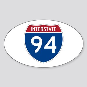 Interstate 94 Oval Sticker