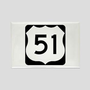 US Highway 51 Rectangle Magnet