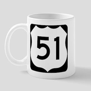 US Highway 51 Mug