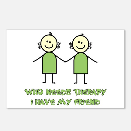 Therapy For Friends Postcards (Package of 8)