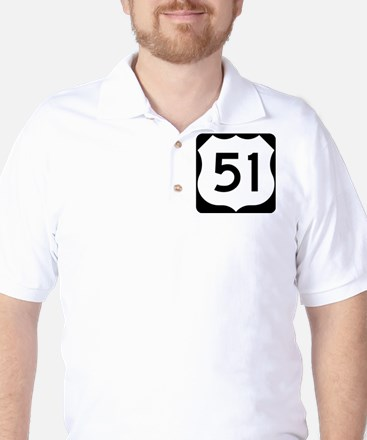 US Highway 51 Golf Shirt