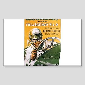 Brooklands Gran Prix Poster Rectangle Sticker