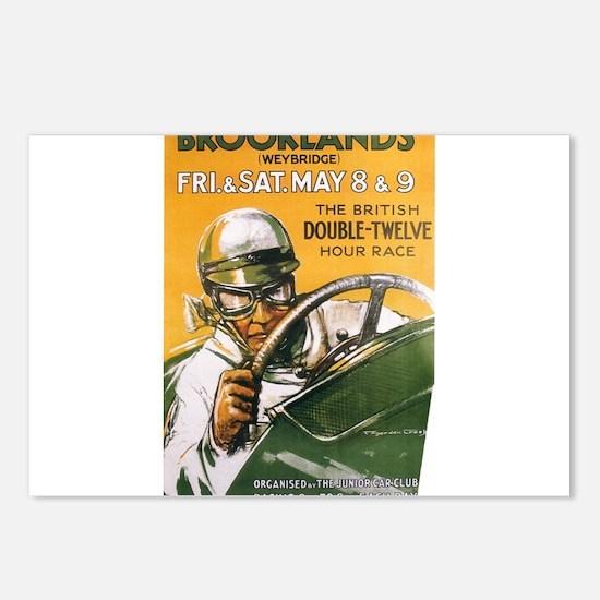 Brooklands Gran Prix Poster Postcards (Package of
