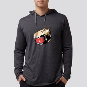 realistic snare drum red Mens Hooded Shirt