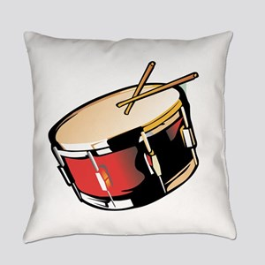 realistic snare drum red Everyday Pillow