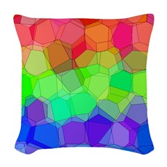 Martian Tricolore Blocks Woven Throw Pillow