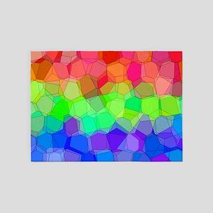 Martian Tricolore Blocks 5'x7'Area Rug